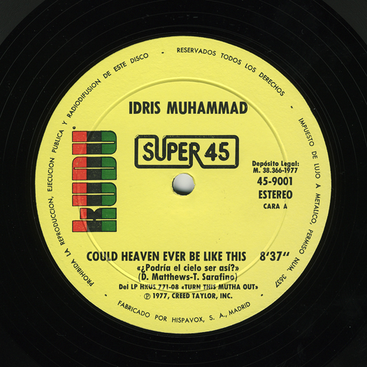 AMAZING DISCO - IDRIS MUHAMMAD